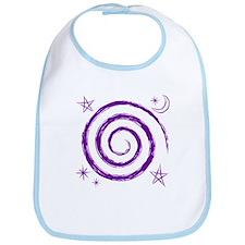 Purple Spiral Bib