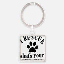 I rescue dogs Square Keychain