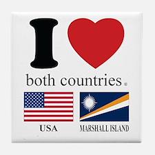 USA-MARSHALL ISLAND Tile Coaster