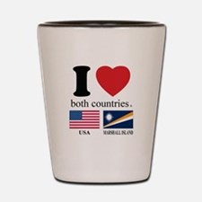 USA-MARSHALL ISLAND Shot Glass