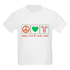 Peace Love Candy Canes T-Shirt