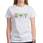 Peace Love Candy Canes Women's T-Shirt