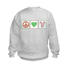 Peace Love Candy Canes Sweatshirt