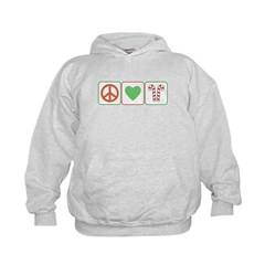 Peace Love Candy Canes Hoodie