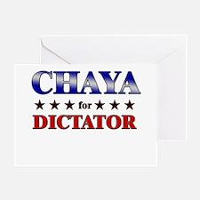 CHAYA for dictator Greeting Card