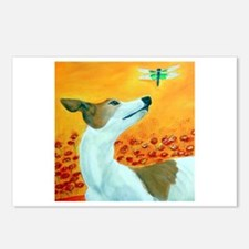 Greyhound with Dragonfly Postcards (Package of 8)