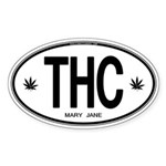 THC Oval Sticker