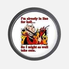 The Devil Made Me Do It! Wall Clock