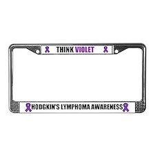 Think Violet Hodgkin's Disease License Plate Frame