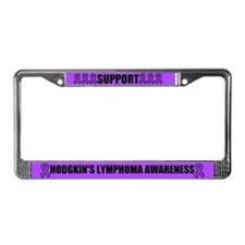Hodgkin's Lymphoma Awareness License Plate Frame
