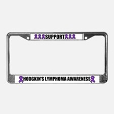 Hodgkin's Lymphoma Awareness License Plate Frame