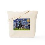 Starry / Min Pin pr Tote Bag