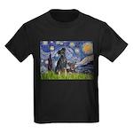 Starry / Min Pin pr Kids Dark T-Shirt
