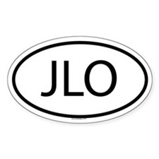 JLO Oval Decal