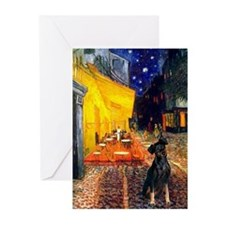 Cafe /Min Pinsche Greeting Cards (Pk of 20)