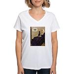 Whistler's / Min Pin Women's V-Neck T-Shirt