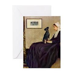 Whistler's / Min Pin Greeting Card