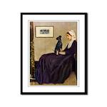 Whistler's / Min Pin Framed Panel Print