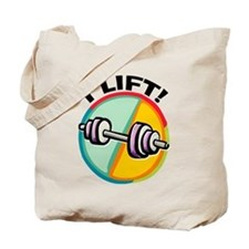 I LIFT Barbell Tote Bag
