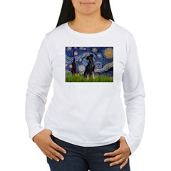 Starry / Min Pinscher Women's Long Sleeve T-Shirt