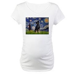 Starry / Min Pinscher Maternity T-Shirt