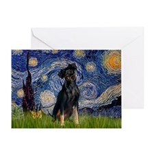 Starry / Min Pinscher Greeting Card