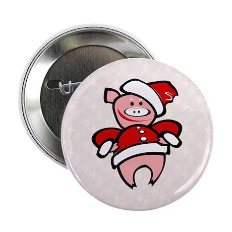 "Christmas Pig 2.25"" Button"