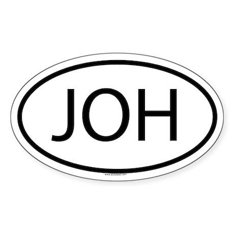 JOH Oval Sticker