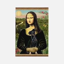 Mona / Min Pinscher Rectangle Magnet