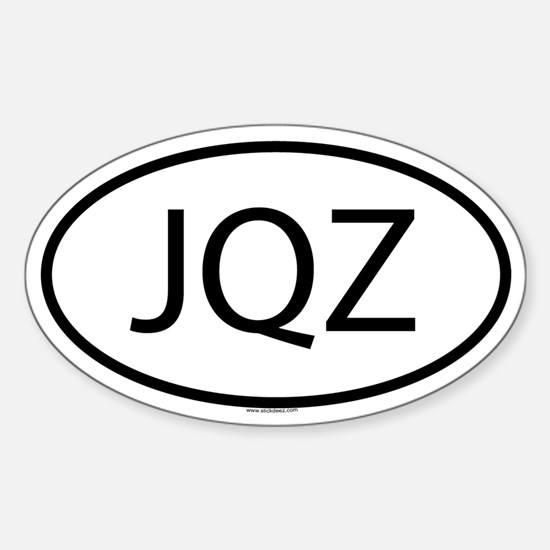 JQZ Oval Decal