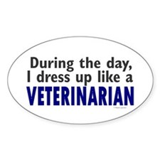 Dress Up Like A Veterinarian Oval Decal
