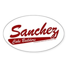 Sanchez Cake Builders Oval Decal