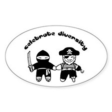 Celebrate Diversity oval sticker