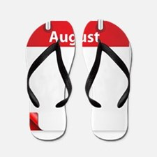 Cute August holidays Flip Flops