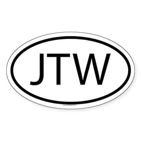 JTW Oval Sticker