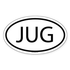 JUG Oval Decal