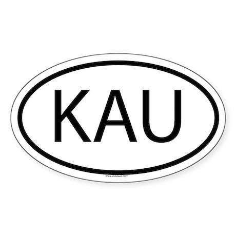 KAU Oval Sticker