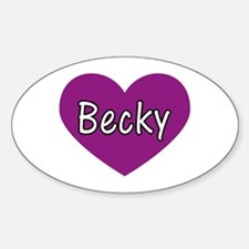 Becky Oval Decal