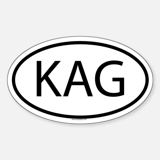 KAG Oval Decal