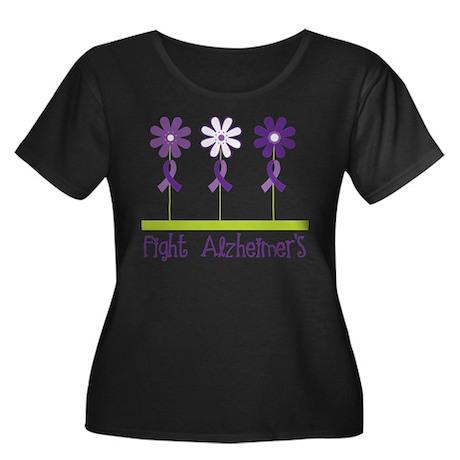Fight Alzheimers Plus Size T-Shirt