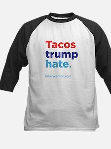 Tacos Trump Hate: Hillary 2016 Baseball Jersey