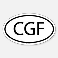 CGF Oval Decal