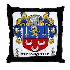 McLaughlin Coat of Arms Throw Pillow