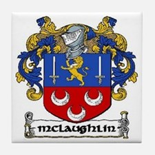 McLaughlin Coat of Arms Ceramic Tile