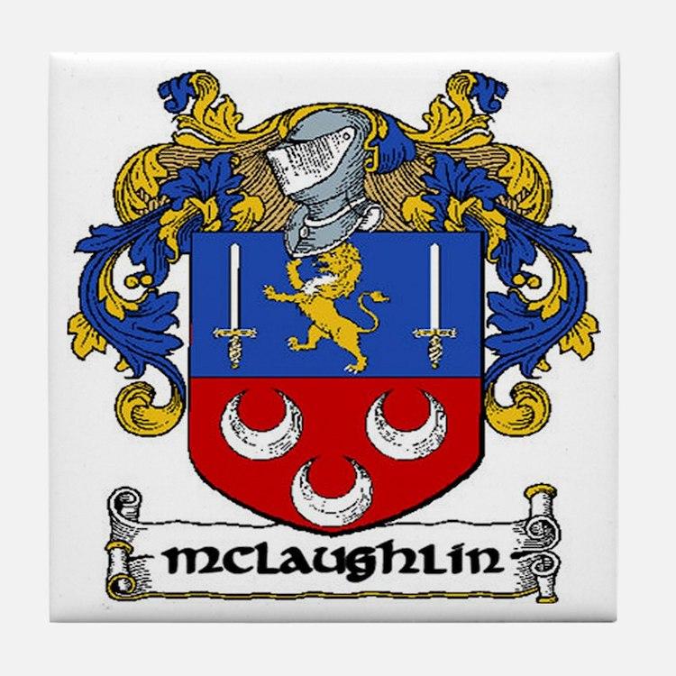 McLaughlin Coat of Arms Ceramic Tile