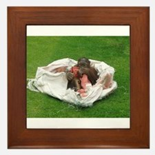 Baby Orangutan animal, Ape Relaxing Framed Tile