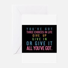 card youve got three choices in life Greeting Card