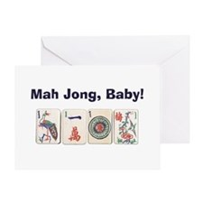 Mah Jong Baby Greeting Card