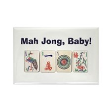 Mah Jong Baby Rectangle Magnet