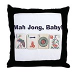 Mah Jong Baby Throw Pillow